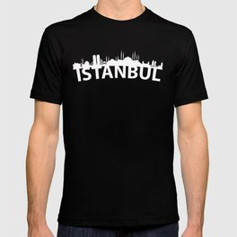 Curved Skyline Of Istanbul Turkey T-shirt