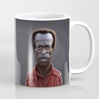miles davis Mugs featuring Celebrity Sunday ~ Miles Dewey Davis by rob art | illustration