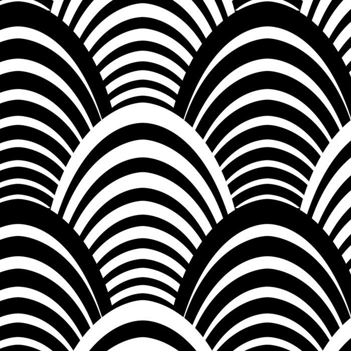 Black and White Art Deco Pattern Leggings