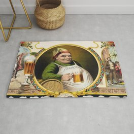 Vintage Lager Beer Advertisement Rug