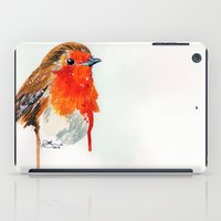 robin iPad Cases featuring Robin by Paint the Moment