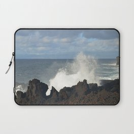 Sea Spray On A Lava Shoreline Laptop Sleeve