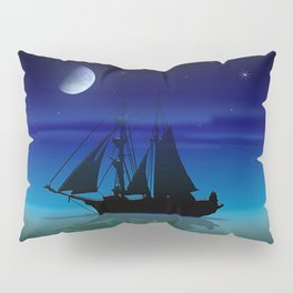 Sailing On A Sea of Green. Pillow Sham