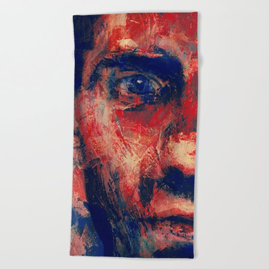 Face in Saturated Color's 4 Beach Towel