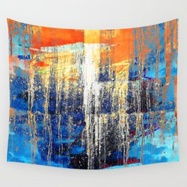 Golden Dawn, Abstract Landscape Art Wall Tapestry