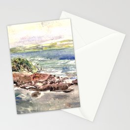 cape red beach Stationery Cards