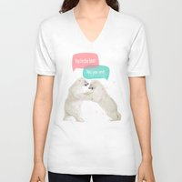 best friends V-neck T-shirts featuring best friends by Laura Graves