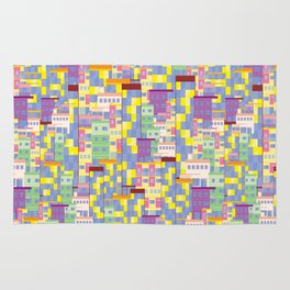 Building Pixel Blocks Rug