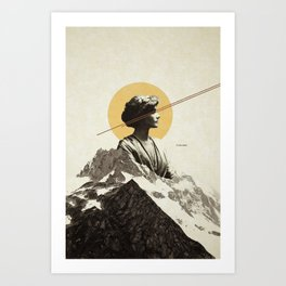 Over the hill ... Art Print