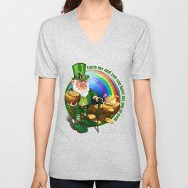 St. Patricks Day Leprechaun Catch Me.... Perfect Gift Shirt Unisex V-Neck