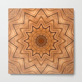 Wood Kaleidoscope c Metal Print
