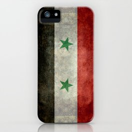 Syrian national flag, vintage iPhone Case