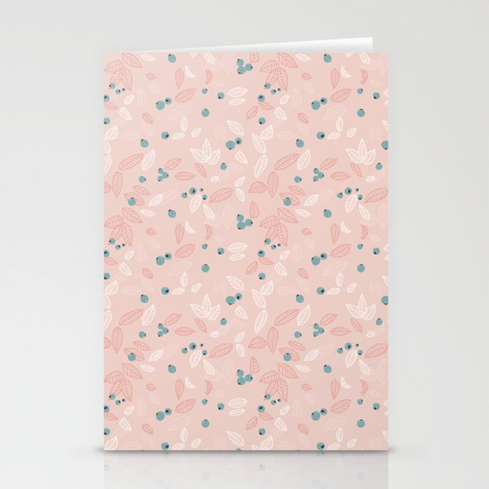 Wild Blueberries (pink) Stationery Cards