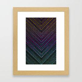 Inside Triangles Framed Art Print
