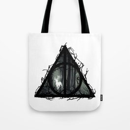 Deathly Hallows - Prongs in the forest with brenches   Marauders - Potterhead - Patronus Tote Bag