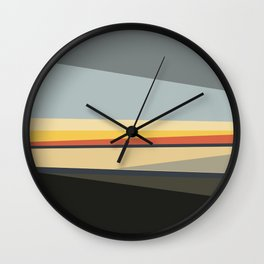 Evening Santa Monica Wall Clock
