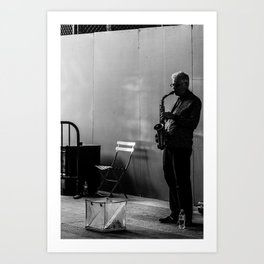 Saxophone player Art Print