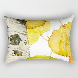 Falling Aspen Leaves Rectangular Pillow