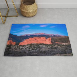 Pikes Peak - Sunrise Over Garden of the Gods in Colorado Springs Rug