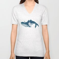 Home (A Whale from Home) Unisex V-Neck