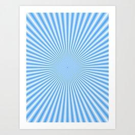 64 Baby Blue Rays Art Print