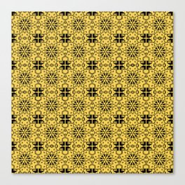 Primrose Yellow Star Geometric Canvas Print