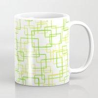 jojo Mugs featuring #52. JOJO - Squares by sylvieceres