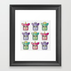 Nineties Furby Pattern  Framed Art Print