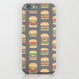 Hamburgers Junk Food Fast food on Dark Grey iPhone Case