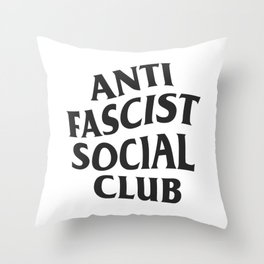Anti Fascist Social Club Throw Pillow