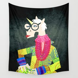 Iris the Unicorn of Fashion Wall Tapestry