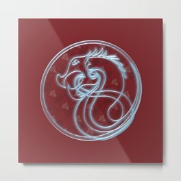 Viking Shield Illuminate Metal Print