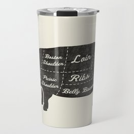 PORK BUTCHER DIAGRAM (pig) Travel Mug