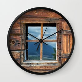 Window and Reflection Wall Clock