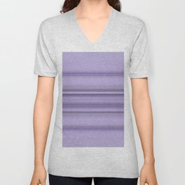 Pantone Purple Stripe Design Unisex V-Neck