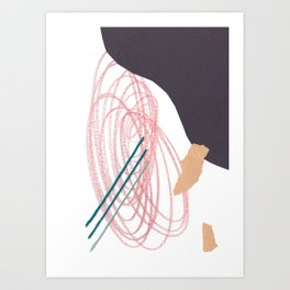 Stitched Abstraction #2 Art Print