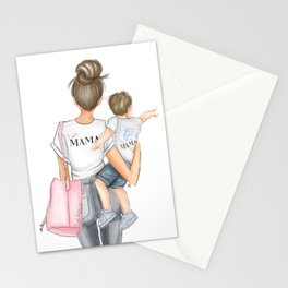 I got it from my mama toddler boy brunette Stationery Cards
