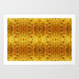 Gold Tortoise Shell Pattern Art Print