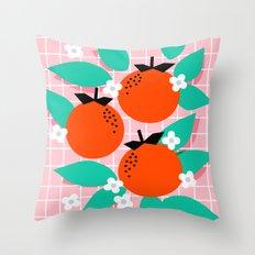 Bodacious - modern abstract minimal 1980s throwback memphis design trendy palm springs art Throw Pillow