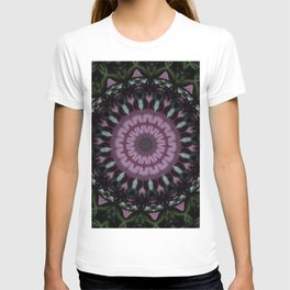 Rose And Jade Geometric Fantasy Mandala Pattern T-shirt