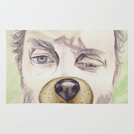 Rob Benedict, watercolor painting Rug