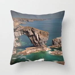 The Green Bridge of Wales Throw Pillow