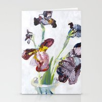 german Stationery Cards featuring German Iris by Shinichi Imanaka