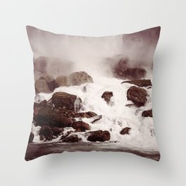 Waterfalls-Niagara Throw Pillow