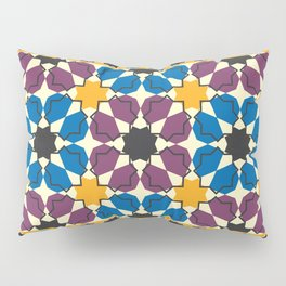 Moroccan seamless pattern, Morocco. Patchwork mosaic with traditional folk geometric ornament Pillow Sham
