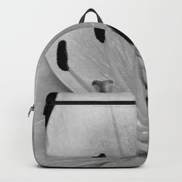 White Lily Flower Close Up Backpack