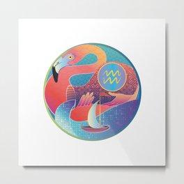 Aquarius Zodiac Sign Metal Print