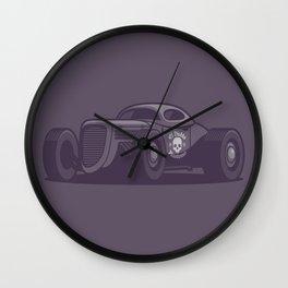 GAZ GL1 Custom Vintage Hot Rod Classic Street Racer Car - Black Wall Clock