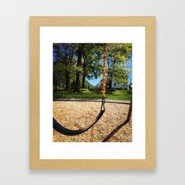 Swings in Summer Framed Art Print