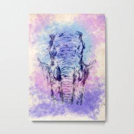 Water Color Elephant 2 Metal Print
